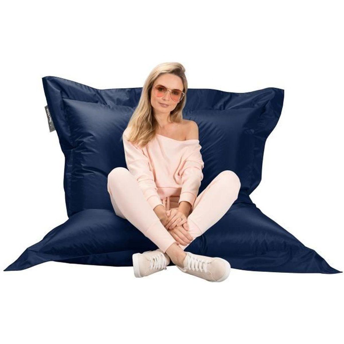 pouf g ant xxl original marine achat vente pouf. Black Bedroom Furniture Sets. Home Design Ideas