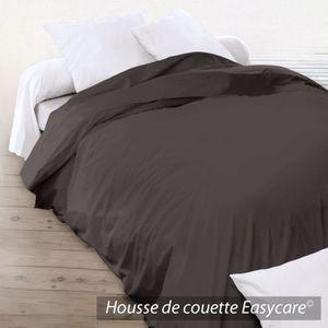 housse couette 200x200 marron achat vente housse couette 200x200 marron pas cher cdiscount. Black Bedroom Furniture Sets. Home Design Ideas