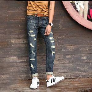 PANTACOURT Jeans Homme Marque de Luxe  Pour Homme Slim Fit Pa