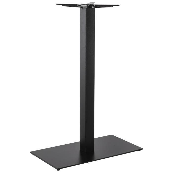 Pied De Table 39 Nero Xl 39 110 En M Tal Peint Noir Achat