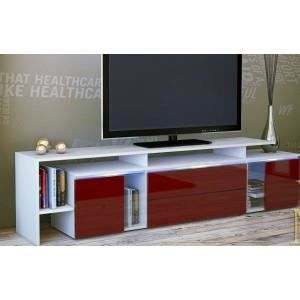 meuble tv design laqu blanc et bordeaux non achat vente meuble tv meuble tv design. Black Bedroom Furniture Sets. Home Design Ideas