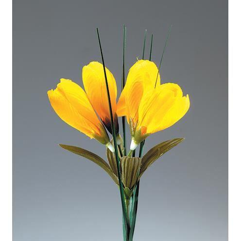 Fleur de crocus jaune artificielle achat vente fleur for Vente fleurs artificielles