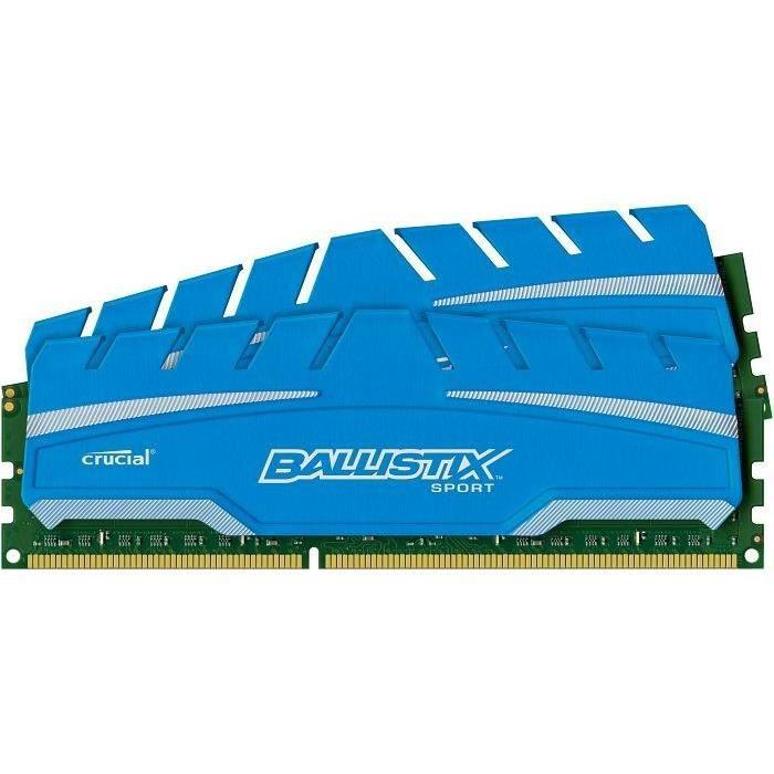 MÉMOIRE RAM Crucial 8Go DDR3 1600MHz CL9