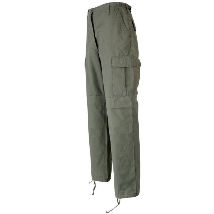 Pantalon bdu ripstop kaki prix pas cher cdiscount - Treillis militaire pas cher ...