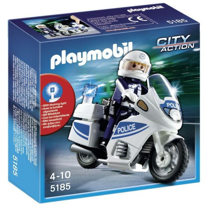 Playmobil 5185 motard police et lumi re achat vente - Jeux de motos de police ...