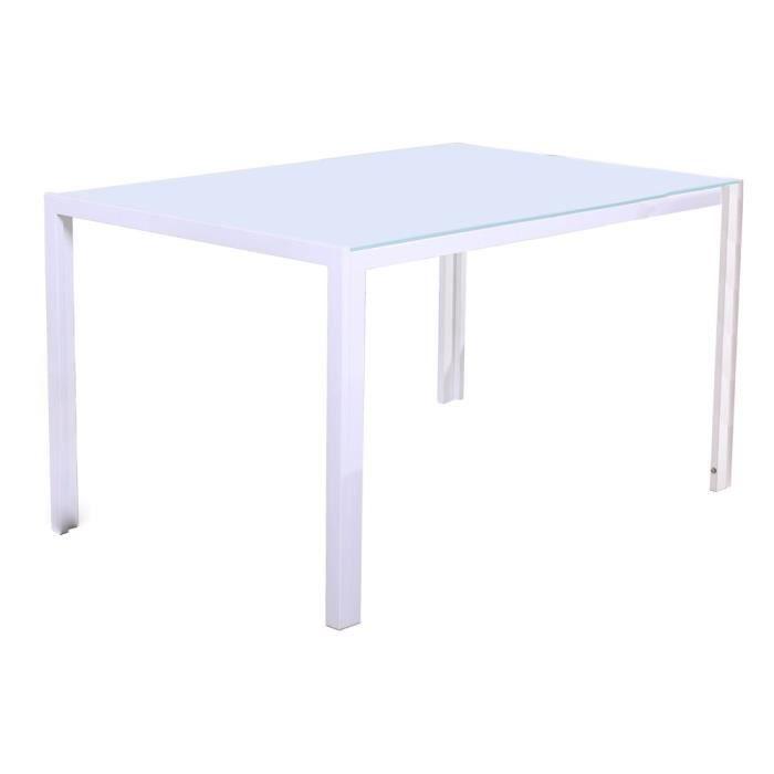 table de sejour 120x70 alita blanche achat vente table. Black Bedroom Furniture Sets. Home Design Ideas