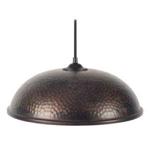 JAIPUR Lustre - suspension martelée ouvert, bi-couleur diam?tre 31 cm, noir, cuivre et balnc
