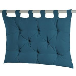 COUSSIN Coussin tête de lit à passants 8 capitons uni 100%