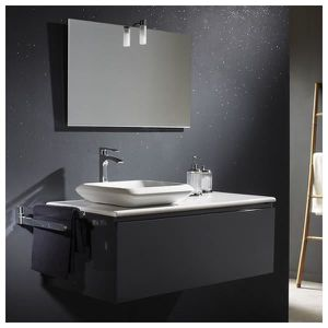 meuble salle de bain gris achat vente meuble salle de. Black Bedroom Furniture Sets. Home Design Ideas