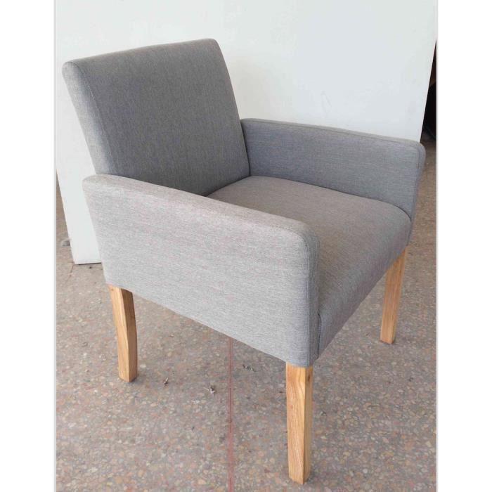 fauteuil soul en lin et pieds bois achat vente fauteuil beige cdiscount. Black Bedroom Furniture Sets. Home Design Ideas