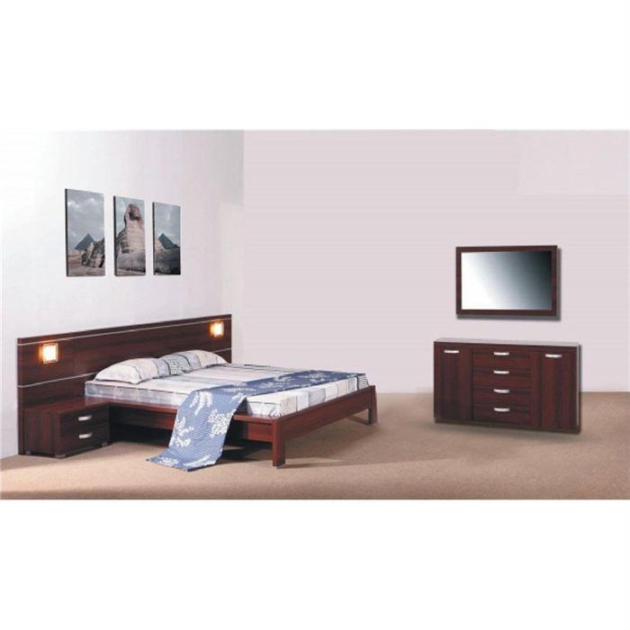 Chambre complete design santana bois wengue achat for Chambre complete design