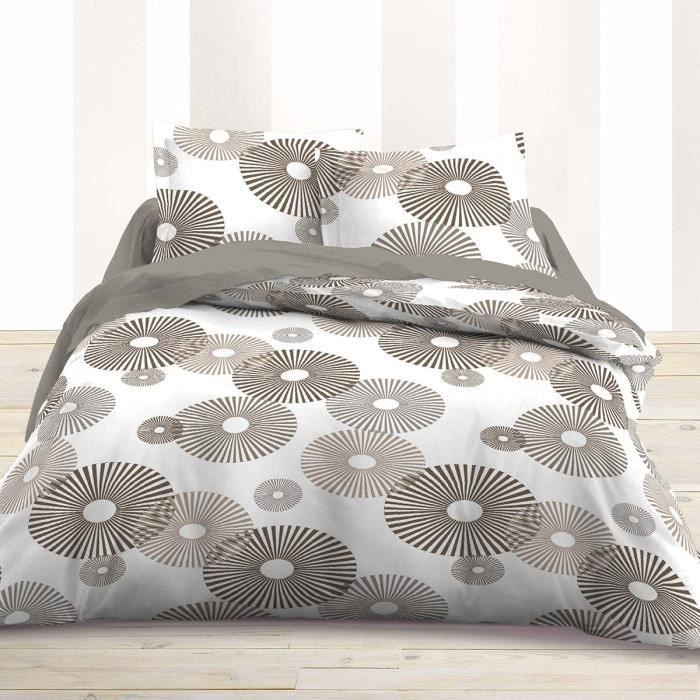 parure pour lit 2 personnes en flanelle 4 pi ces idyle 100. Black Bedroom Furniture Sets. Home Design Ideas