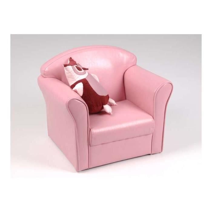 fauteuil club pour enfant de couleur rose de la marque amadeus achat vente fauteuil cdiscount. Black Bedroom Furniture Sets. Home Design Ideas