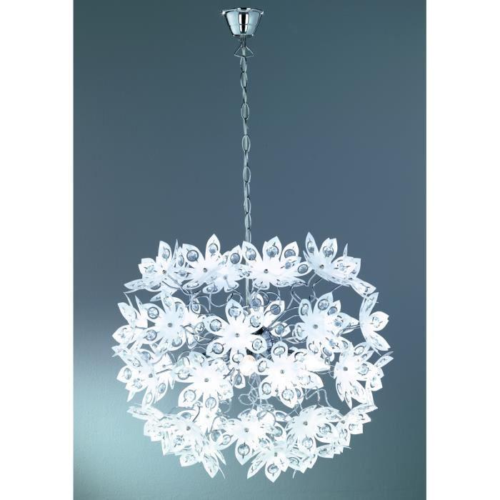 lustre suspension fleurs acryliques 0cm l 150cm achat vente lustre suspension fleurs ac. Black Bedroom Furniture Sets. Home Design Ideas