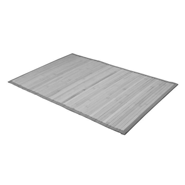 tapis de bains bambou gris 50 x 80 cm achat vente tapis de bain cdiscount. Black Bedroom Furniture Sets. Home Design Ideas