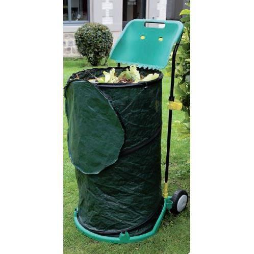 chariot de transport pliable pour d chets de jardin. Black Bedroom Furniture Sets. Home Design Ideas