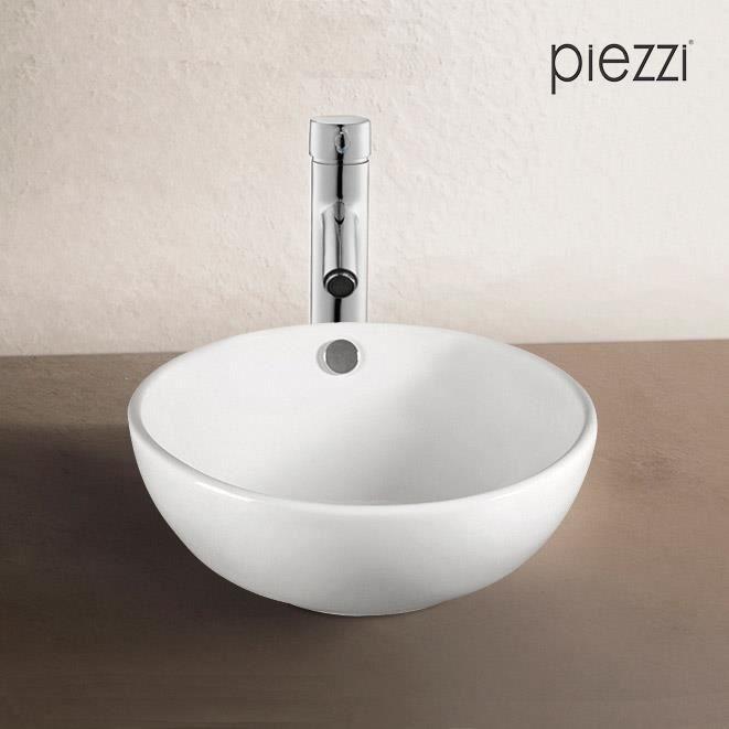 Vasque poser en c ramique blanche 43 cm rondo blanc achat vente lavabo vasque vasque - Vasque a poser ceramique ...