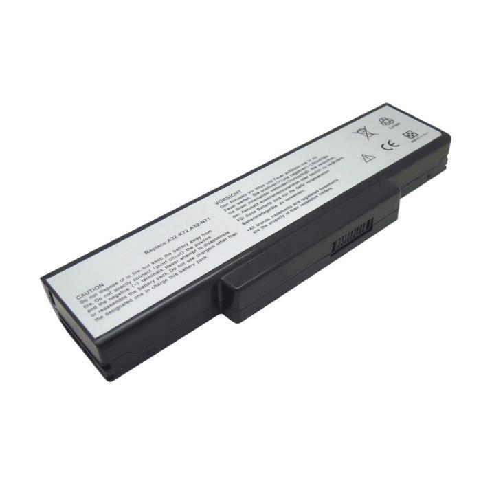 batterie pour ordinateur portable a32 k72 asus x73s prix pas cher cdiscount. Black Bedroom Furniture Sets. Home Design Ideas