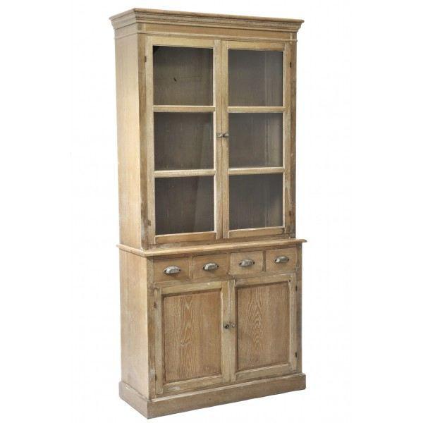 buffet vitrine 4 tiroirs 4 portes vintage chic j line. Black Bedroom Furniture Sets. Home Design Ideas
