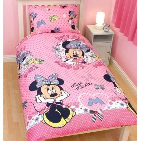 minnie parure de lit housse de couette 14 achat vente parure de couette soldes d. Black Bedroom Furniture Sets. Home Design Ideas