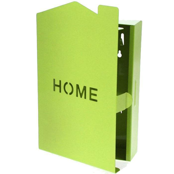 boite clefs porte cl s mural vert achat vente boite de rangement cdiscount. Black Bedroom Furniture Sets. Home Design Ideas