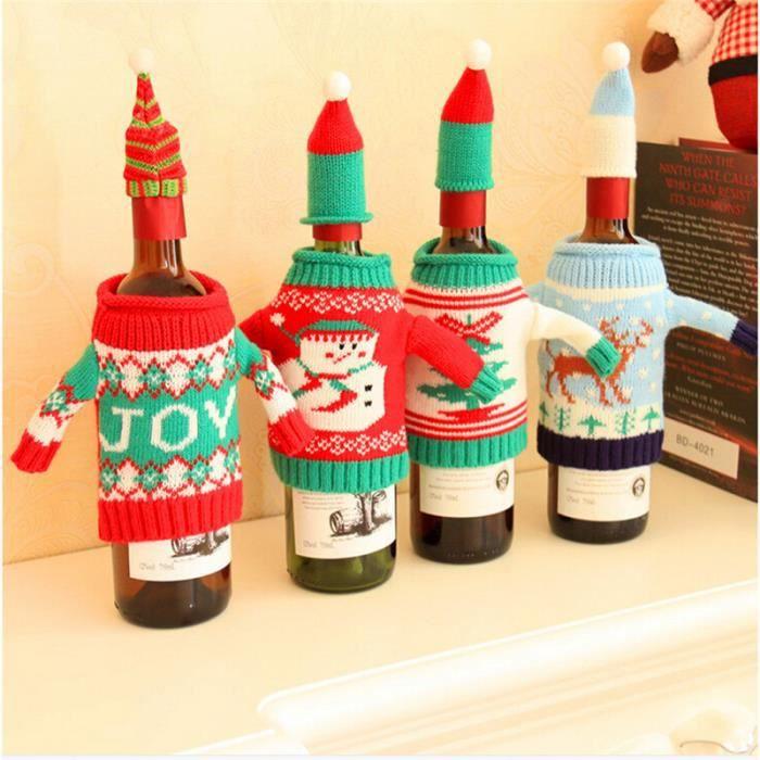 Joy pull over couverture de bouteille de vin d coration de for Cdiscount decoration