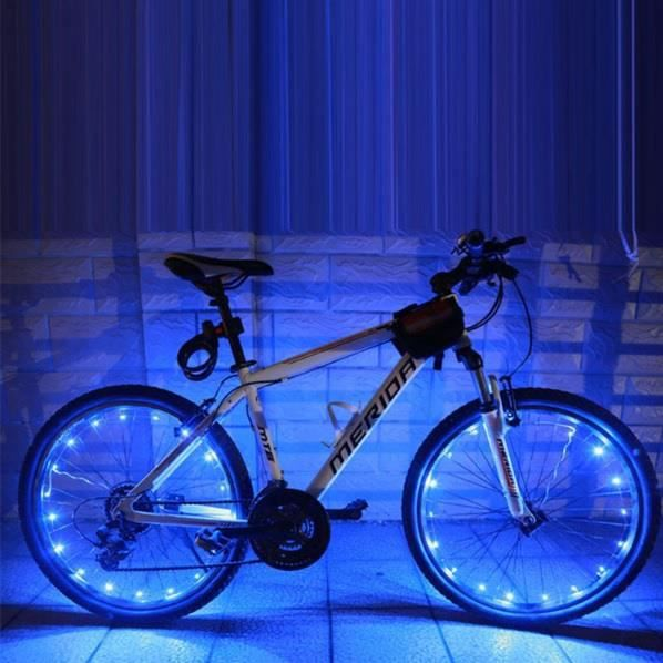Guirlande tube led pour roue de v lo pack de 2 bleu - Guirlande tube lumineux exterieur pas cher ...