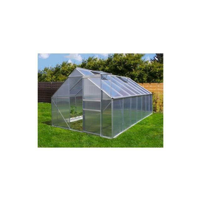 Serre de jardin m en aluminium avec port achat - Vente de serre de jardin ...