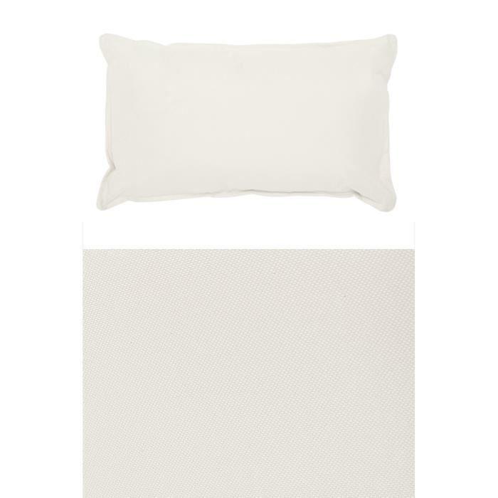coussin impermeable 60x35 cm ecru achat vente coussin. Black Bedroom Furniture Sets. Home Design Ideas