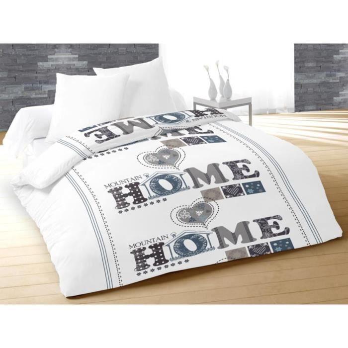 couette imprim e 220x240 mountain blanc achat vente p le m le photo cdiscount. Black Bedroom Furniture Sets. Home Design Ideas