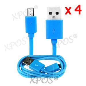 CÂBLE TÉLÉPHONE 4X Câble USB de synchronisation data micro USB pou