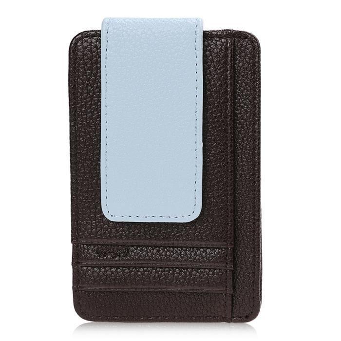 pince billet en cuir argent clip id porte carte clip portecartes pour hommes achat vente. Black Bedroom Furniture Sets. Home Design Ideas