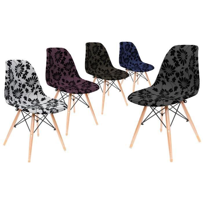 2 chaise stockholm chaise tapiss e noir g om trique. Black Bedroom Furniture Sets. Home Design Ideas