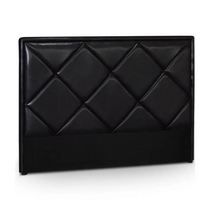 t te de lit matelass e helena 160cm noir achat vente. Black Bedroom Furniture Sets. Home Design Ideas