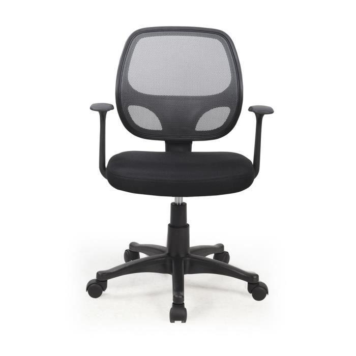 Chaise De Bureau Noir Et Gris En Polyester Dim Achat Vente Chaise De Bureau Noir Cdiscount