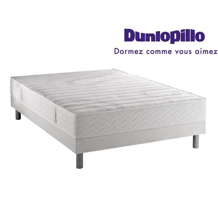 ensemble dunlopillo matelas aero confort visco 180x200 2 sommiers 90x200 pieds achat. Black Bedroom Furniture Sets. Home Design Ideas
