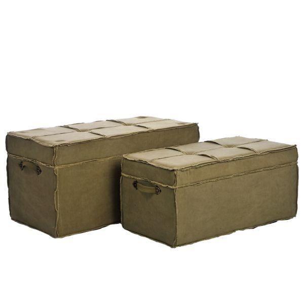 Set de 2 coffres de rangement camp achat vente set de - Coffre rangement chaussures ...