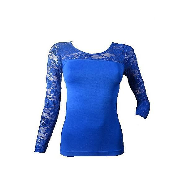 tee shirt manches longues femme bleu roi bleu achat vente t shirt cdiscount. Black Bedroom Furniture Sets. Home Design Ideas