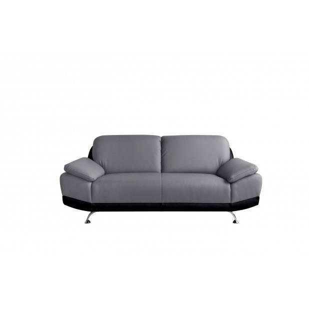 Canap ottawa 2 places couleur noir gris achat for Canape 2 couleurs