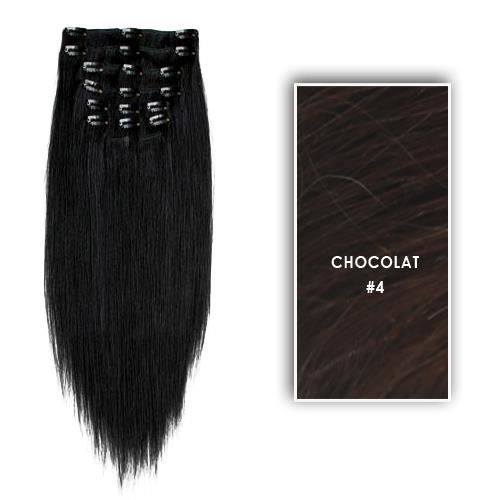 extensions clips synth tiques 70 cm brun achat vente perruque postiche extensions. Black Bedroom Furniture Sets. Home Design Ideas
