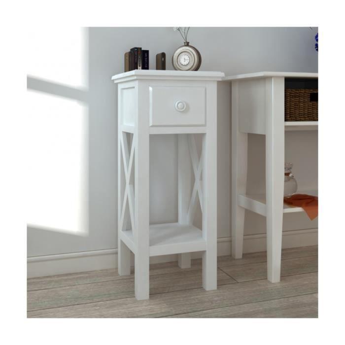 Superbe table blanche auxiliaire pour t l phone avec - Meuble pour telephone ...
