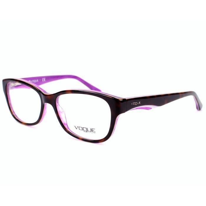lunettes de vue vogue vo2814 2019 havane violet violet. Black Bedroom Furniture Sets. Home Design Ideas
