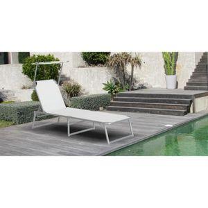 transat bain de soleil blanc achat vente transat bain. Black Bedroom Furniture Sets. Home Design Ideas