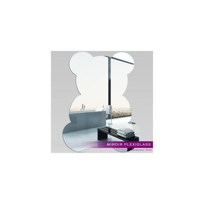 Miroir plexiglass acrylique b b ourson ref mir 035 for Miroir qui s ouvre
