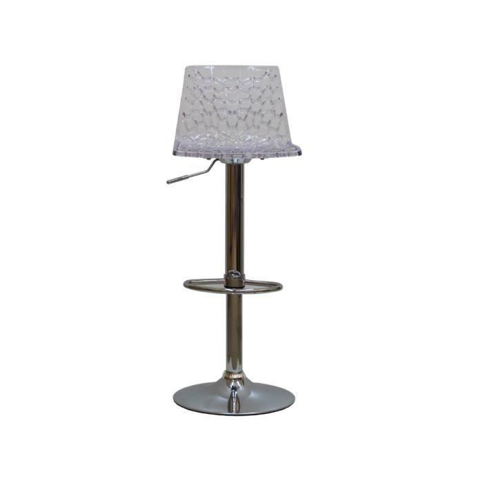 tabouret de bar moderne stan transparent achat vente tabouret de bar polycarbonate cdiscount. Black Bedroom Furniture Sets. Home Design Ideas