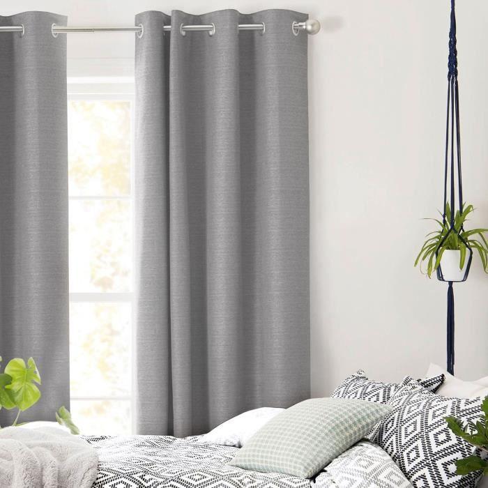 first rideau oeillets polycoton 140x250cm g achat vente rideau les soldes sur. Black Bedroom Furniture Sets. Home Design Ideas