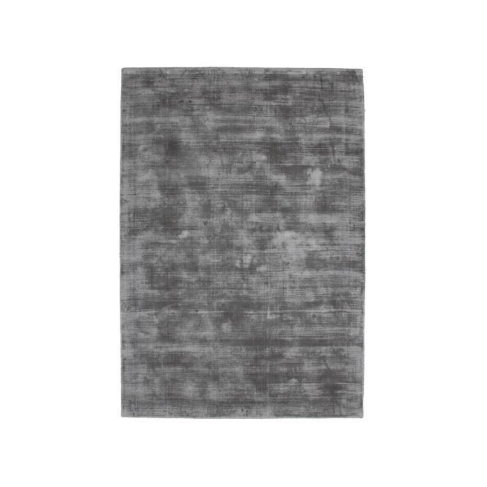 Tapis en viscose design silky gris clair 200x290 cm - Tapis shaggy gris 200x290 ...
