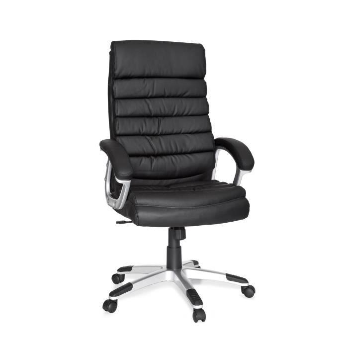 fauteuil de bureau design tina noir achat vente chaise de bureau noir cdiscount. Black Bedroom Furniture Sets. Home Design Ideas