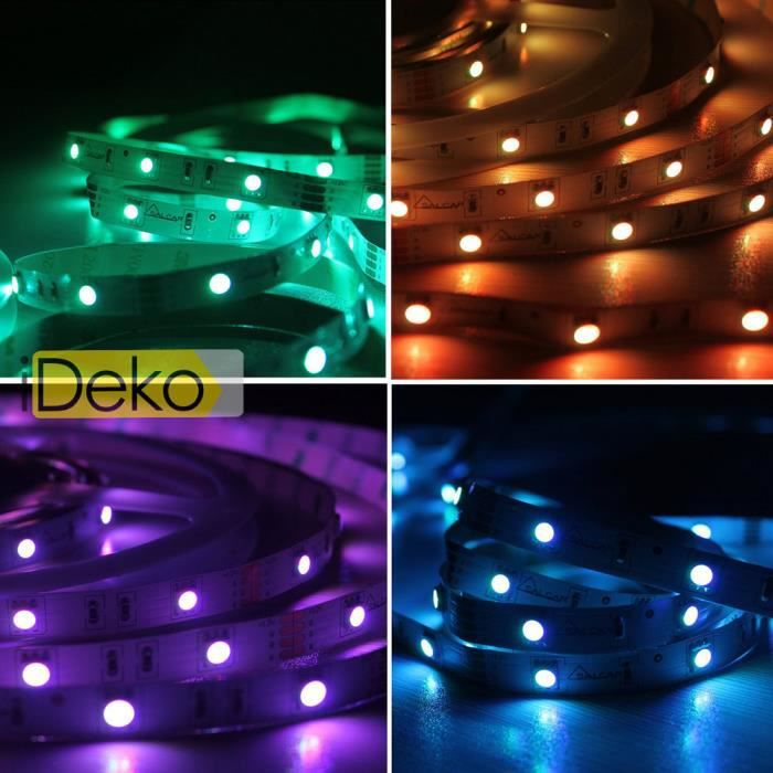 ruban led rgb 5050 ruban led 5 m tres 60led m 5050 rgb. Black Bedroom Furniture Sets. Home Design Ideas