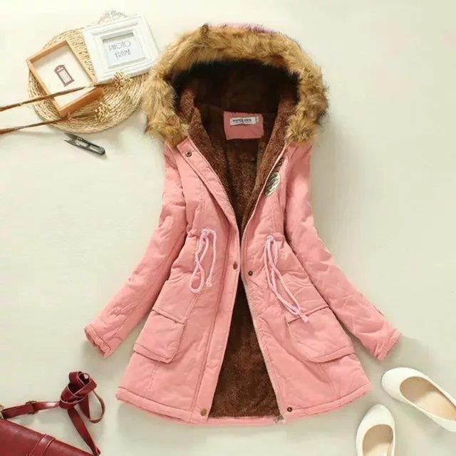 veste d 39 hiver femmes 2016 new hiver femmes park pink achat vente veste cdiscount. Black Bedroom Furniture Sets. Home Design Ideas